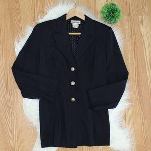 Francine Browner Jackets & Coats - Francine Browner Navy Blazer Jacket M